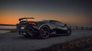 Lamborghini Huracan Lamborghini Car Black Car Sport Car Supercar 3840x2160 Wallpaper