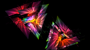 Chaoscope Software Colorful Fractal Light Triangle 1600x1200 Wallpaper