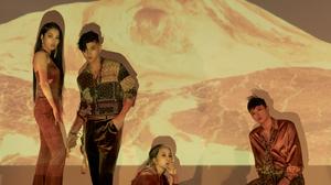 K A R D K Pop Matthew Kim Somin J Seph Jiwoo Women Men Studio Music Asian Heels Red Heels Sitting Le 1400x2100 Wallpaper