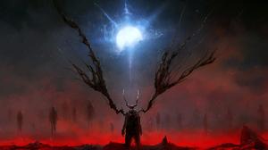 Dark Demon 3571x2009 Wallpaper