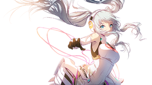 Blue Eyes Hatsune Miku Headphones Long Hair White Hair 1920x1080 Wallpaper