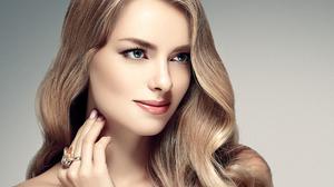 Blonde Blue Eyes Face Girl Model Woman 2420x1735 Wallpaper