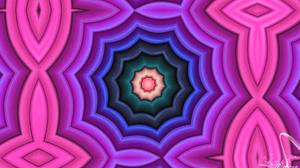 Artistic Blue Colors Digital Art Kaleidoscope Pattern Pink 1920x1080 Wallpaper