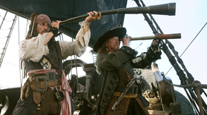 Johnny Depp Jack Sparrow Geoffrey Rush Hector Barbossa 3075x2050 wallpaper