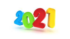 Typography Simple Background Numbers 3D New Year 3840x2160 Wallpaper