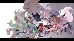 Arcanine Pokemon Granbull Pokemon Houndoom Pokemon Lycanroc Pokemon Manectric Pokemon Mightyena Poke 3000x1560 Wallpaper