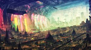 Digital Art Concept Art Science Fiction Artwork Fantasy Art Fan Art 3D CGi Painting Cyber Cyberpunk  3840x2160 Wallpaper