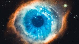 Helix Nebula Galaxy Universe Stars Space Blue White Black 3840x2160 Wallpaper