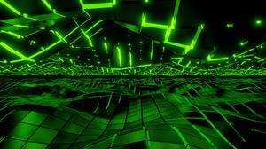 Blender Abstract 3D Abstract 3D Graphics Green 1920x1080 Wallpaper