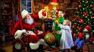 Child Christmas Magical Santa 3840x2160 Wallpaper