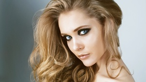 Blonde Blue Eyes Face Girl Model Woman 5472x3648 Wallpaper