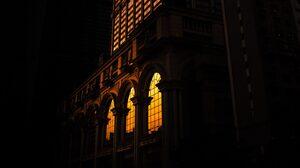 Architecture Building Tom Leighton Dark Old Building Arch Macau Window 2560x1440 Wallpaper