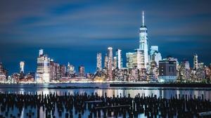 Building City New York Night Skyscraper Usa 2800x1784 Wallpaper