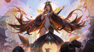 Bo Chen Drawing League Of Legends Women Seraphine League Of Legends Long Hair Dark Hair Microphone D 1920x1133 wallpaper