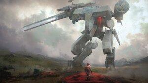 Metal Gear Solid Concept Art Mech Artwork 1920x1080 Wallpaper