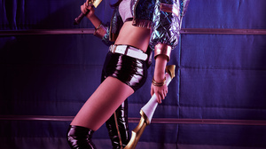 Ali A Asian Leather Clothing Long Hair Cosplay 5792x8688 Wallpaper