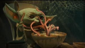 Star Wars Starwar The Mandalorian The Mandalorian Character Yoda Baby Yoda Disney Food Spoon 1920x813 Wallpaper