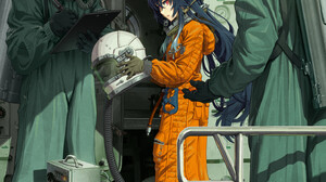 Anime Anime Girls Digital Art Artwork 2D Portrait Display Vertical Red Eyes Pointy Ears Dark Hair As 1447x2047 Wallpaper