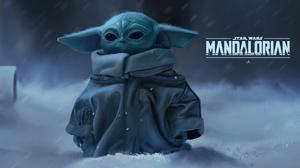 Baby Yoda Mandalorian Yoda The Mandalorian Star Wars 4K Grogu 3840x2355 Wallpaper