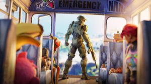 Fortnite Halo 3840x2160 Wallpaper