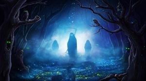 Creepy Fog Grim Reaper Night 1920x1080 wallpaper