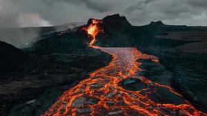 Landscape Nature Volcano Volcanic Eruption Lava 3642x2049 Wallpaper