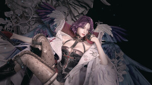 Dungeon Fighter Dungeon And Fighter Wings Violet Hair Tights Digital Art 1920x1126 Wallpaper