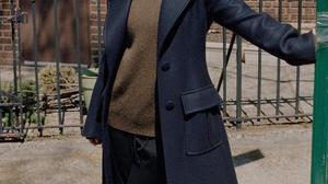 Anya Taylor Joy Women Actress Lipstick Dark Hair Long Hair Sunlight Outdoors Urban Coats 853x1280 wallpaper