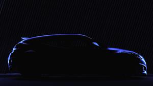 Hyundai Veloster Silhouette Blue Neon Tuning Low Light Car Vehicle 5408x3071 wallpaper