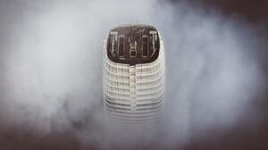 San Francisco Building Mist Rooftops 5429x3617 Wallpaper