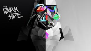 Multiple Display Dual Monitors Abstract Digital Art Stormtrooper Darth Vader Dark Side Star Wars Sta 3840x1080 Wallpaper