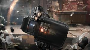 Rainbow Six Siege Arknights Video Game Art PC Gaming Aiming Gun Weapon Shield Helmet Video Games 4096x2160 Wallpaper