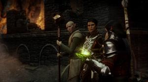 Dragon Age Dragon Age Inquisition Inquisitor Dark Background Fire Cassandra Pentaghast Solas PC Gami 2544x1436 Wallpaper