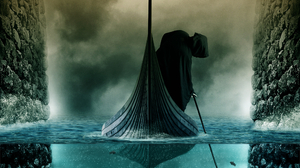 Boat Charon Mythology Death Fog Water 2526x1895 Wallpaper