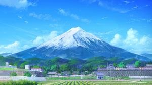 Building Cloud Field Mount Fuji Mountain Scenery Sky 1920x1356 Wallpaper