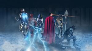 Aquaman Batman Cyborg Dc Comics Dc Comics Flash Justice League 2017 Superman Wonder Woman 3000x1688 Wallpaper