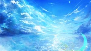 Crescent Horizon Sky Water 2800x1838 wallpaper