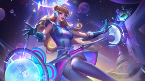 League Of Legends Riot Games Lux League Of Legends Space Groove Video Game Girls Video Game Characte 1920x1082 Wallpaper