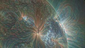Sun Ultraviolet NASA Filter Photography Grain 2045x2045 wallpaper