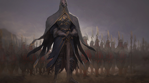 Warrior Sword Armor Spear 2333x1500 Wallpaper