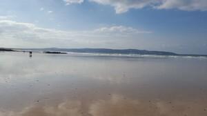 Reflection Beach Landscape Low Tide 1920x1080 Wallpaper