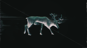 Glitch Art Abstract Elk Reindeer 3840x2160 Wallpaper