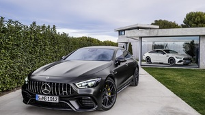 Mercedes Benz Car Vehicle Luxury Cars Mercedes AMG GT 4 Door Front Angle View Black Cars 1600x1172 Wallpaper