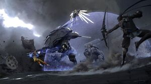 Tracer Overwatch D Va Overwatch Winston Overwatch Hanzo Overwatch Reaper Overwatch Mercy Overwatch 1920x1080 wallpaper