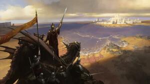 Senfeng Chen Fantasy Art Illustration Fantasy City Dragon Army Coast 1920x1080 Wallpaper