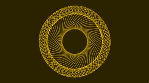 Digital Art Spiral Yellow 8500x4500 Wallpaper