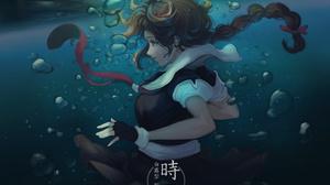Anime Anime Girls Shigure KanColle Kantai Collection Underwater 2048x1597 Wallpaper