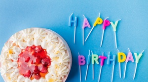 Birthday Cake Candle Pastry 5184x3456 wallpaper