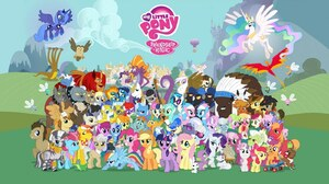 My Little Pony Poster Vector 1600x900 Wallpaper