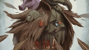 Artwork Graffiti Drawing Fat Heat Animals Birds Rats Glasses Top Hat Feathers Portrait Display 1200x1822 Wallpaper